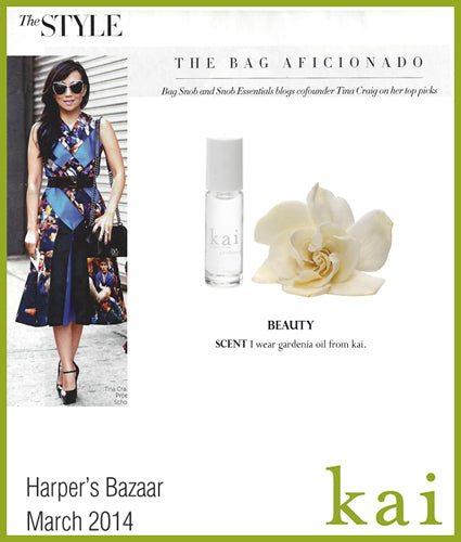 kai fragrance featured in harper's bazaar march 2014