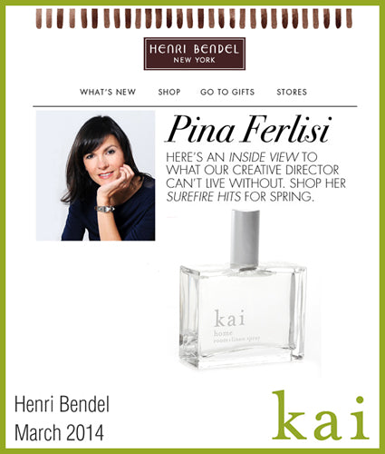 kai fragrance featured in henri bendel march 2014