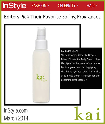 kai fragrance featured in instyle.com march 2014
