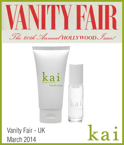 kai fragrance featured in vanity fair - uk march 2014