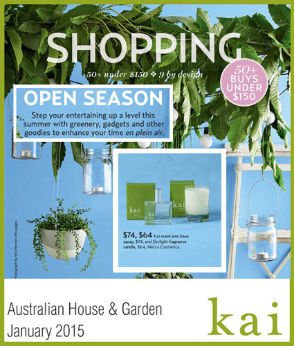 kai fragrance featured in australian house & garden january 2015