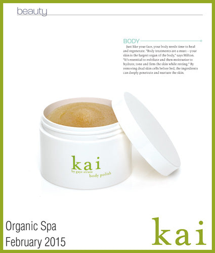 kai fragrance featured in organic spa february 2015