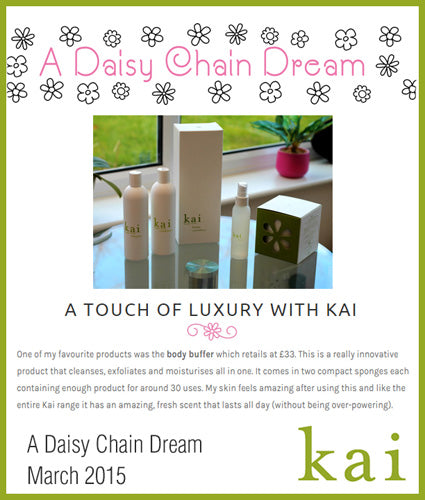 kai fragrance featured in a daisy chain dream march 2015