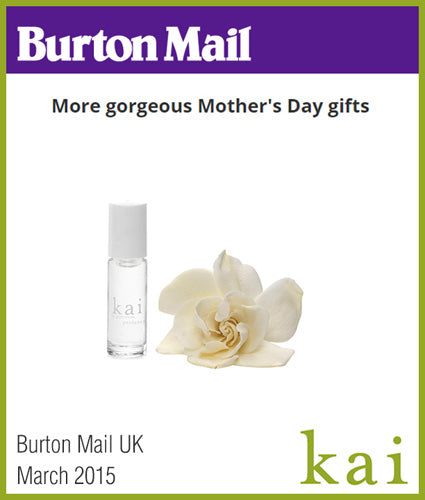 kai fragrance featured in burton mail uk march 2015