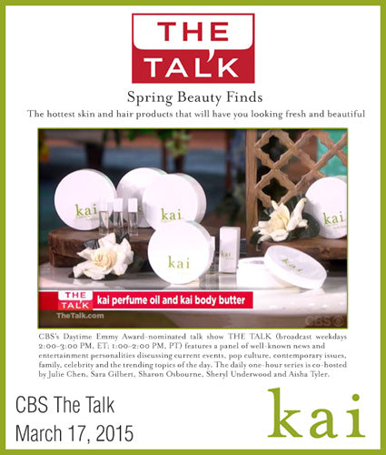 kai fragrance featured in cbs the talk march 2015