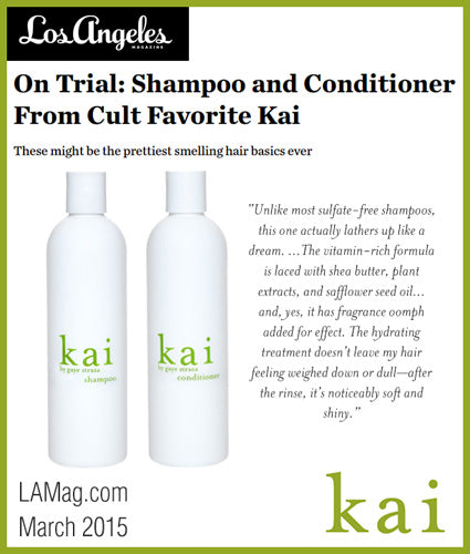 kai fragrance featured in lamag.com march 2015