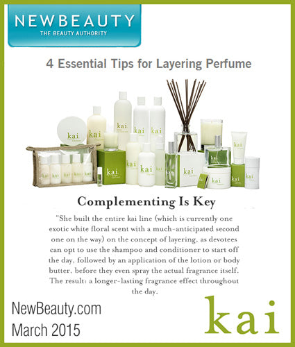 kai fragrance featured in newbeauty.com march 2015