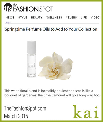 kai fragrance featured in the fashion spot march 2015
