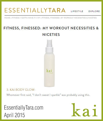 kai fragrance featured in essentiallytara.com april 2015