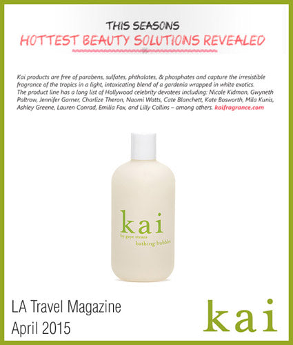 kai fragrance featured in la travel april 2015