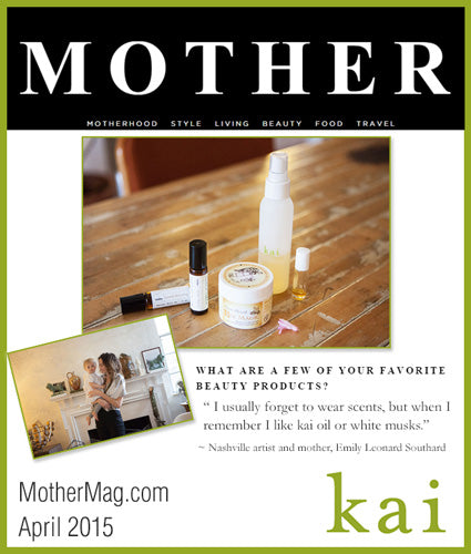 kai fragrance featured in mothermag.com april 2015