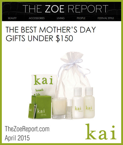 kai fragrance featured in thezoereport.com april 2015