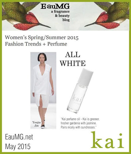 kai fragrance featured in eaumg.net may 2015