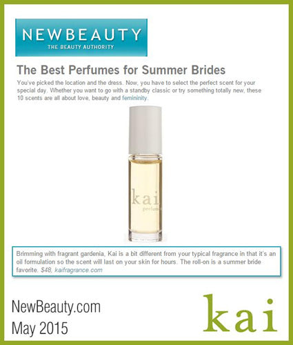 kai fragrance featured in newbeauty.com may 2015