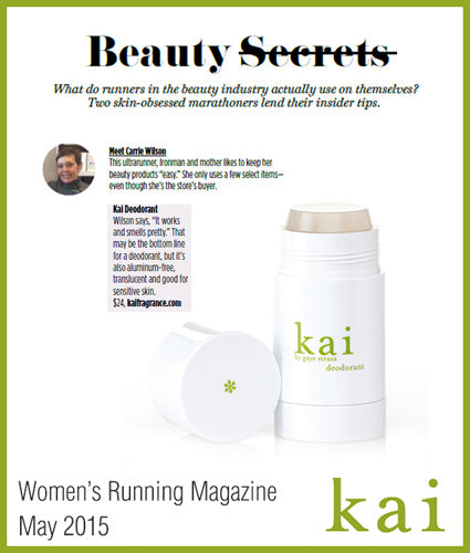 kai fragrance featured in womens running magazine may 2015