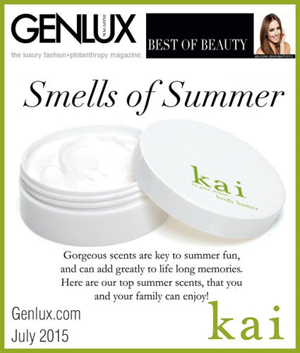 kai fragrance featured in genlux.com july 2015
