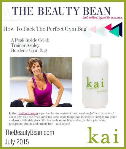 kai fragrance featured in thebeautybean.com july 2015