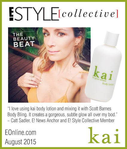 kai fragrance featured in eonline.com august 2015