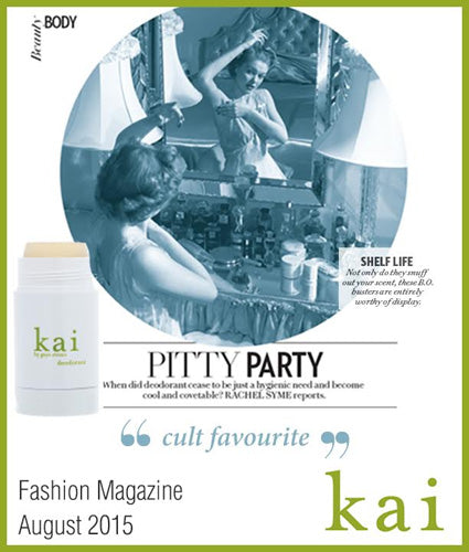 kai fragrance featured in fashion magazine august 2015