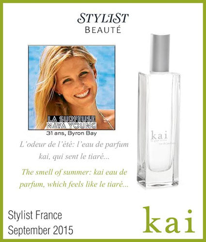 kai fragrance featured in stylist france september 2015