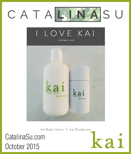 kai fragrance featured in catalinasu.com october 2015