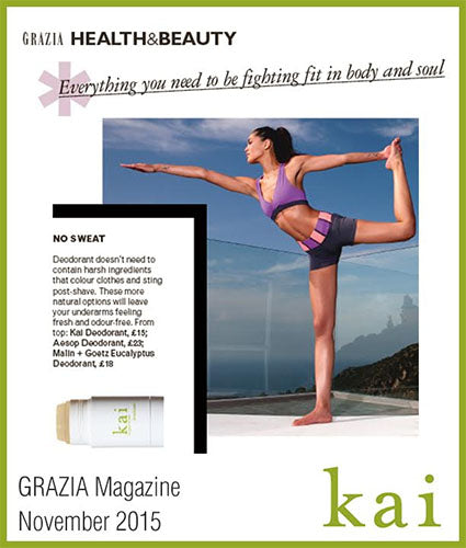 kai fragrance featured in grazia november 2015