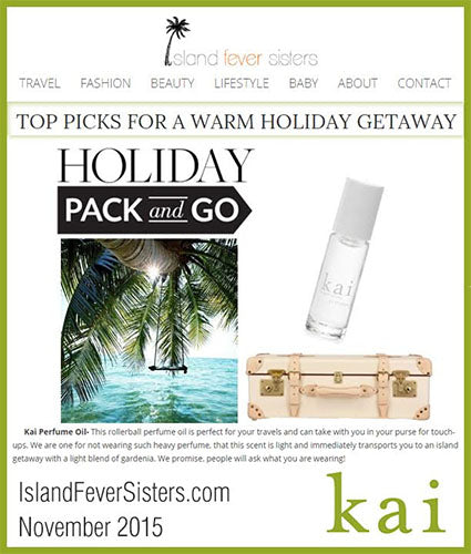 kai fragrance featured in islandfeversisters.com november 2015