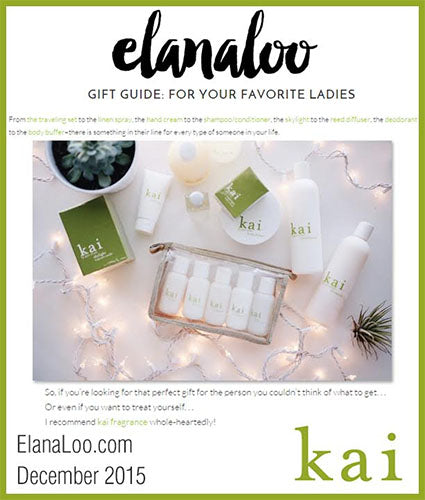 kai fragrance featured in elanaloo.com decemeber 2015