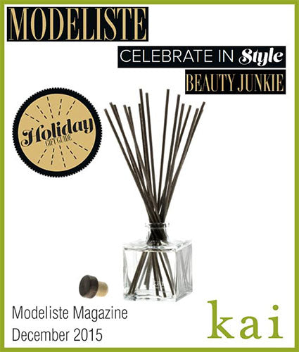 kai fragrance featured in modeliste decemeber 2015
