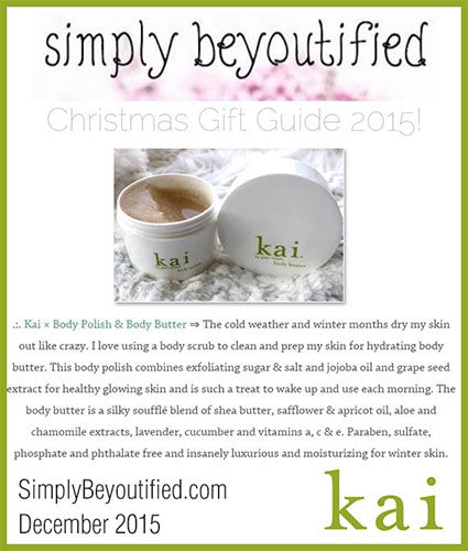 kai fragrance featured in simplybeyoutified.com december 2015