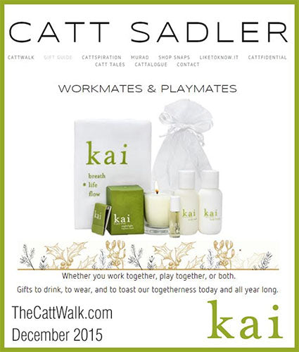 kai fragrance featured in thecattwalk.com decemeber 2015