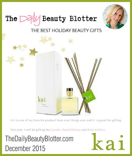 kai fragrance featured in thedailybeautyblotter.com decemeber 2015