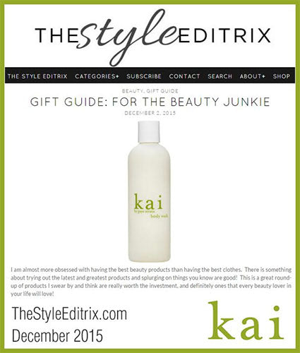 kai fragrance featured in thestyleeditrix.com december 2015