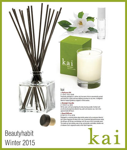 kai fragrance featured in beauty habit winter 2015