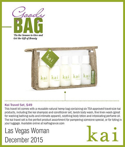 kai fragrance featured in las vegas woman winter 2015