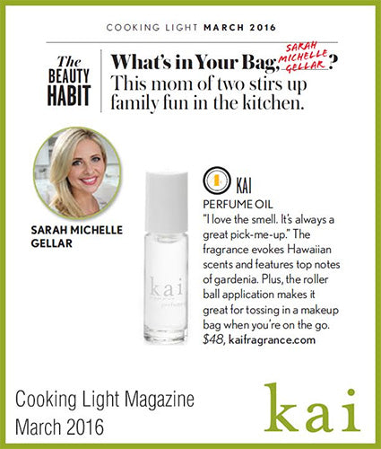 kai fragrance featured in cooking light magazine march 2016