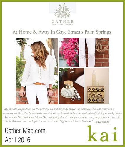 kai fragrance featured in gather-mag.com april 2016