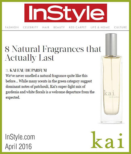 kai fragrance featured in instyle.com april 2016