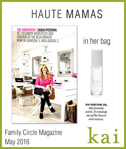 kai fragrance featured in family circle magazine may 2016
