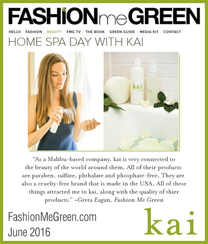 kai fragrance featured in fashionmegreen.com june 2016