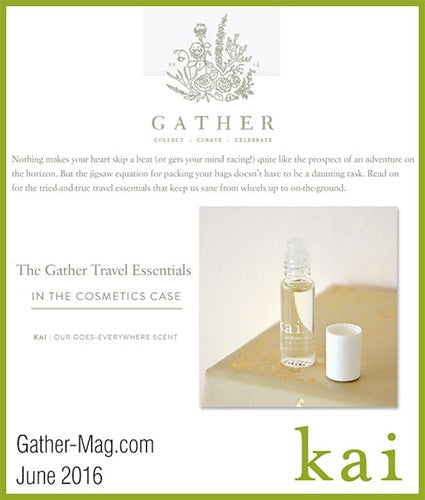 kai fragrance featured in gather-mag.com june 2016