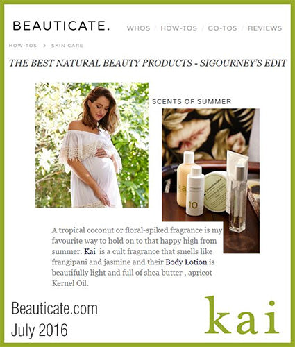 kai fragrance featured in beauticate.com july 2016