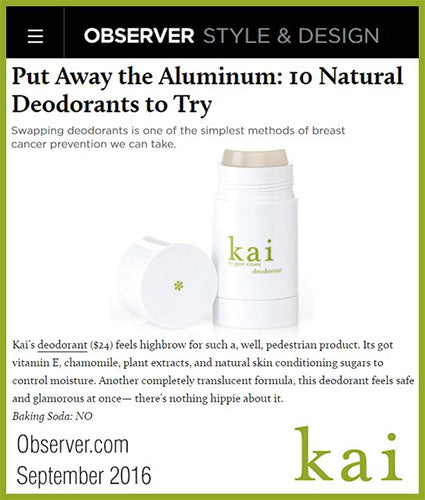 kai fragrance featured in observer.com september 2016