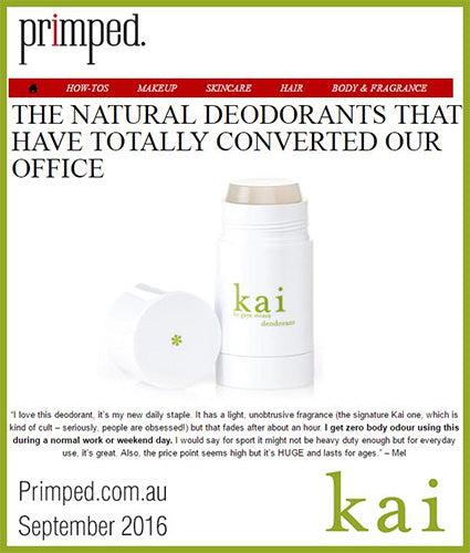 kai fragrance featured in primped.com.au september 2016
