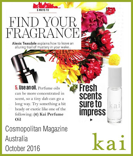 kai fragrance featured in cosmopolitan magazine australia october 2016