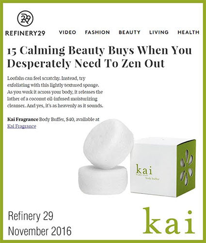 kai fragrance featured in refinery 29 november 2016
