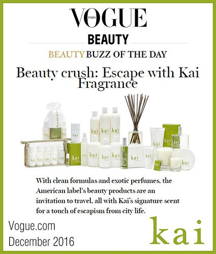 kai fragrance featured in vogue.com december 2016