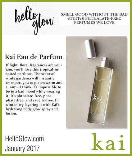 kai fragrance featured in hellowglow.com january 2017