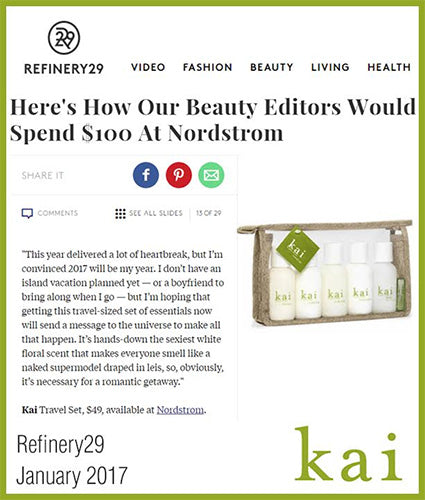 kai fragrance featured in refinery29 january 2017