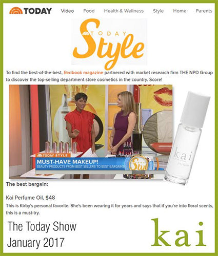 kai fragrance featured in the today show january 2017